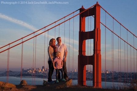 family portraits in dramatic locations