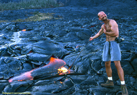 lava fields marshmallow roast, The Big Island, Hawaii