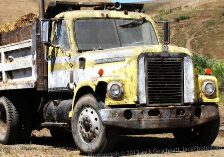 yellow farm truck, Marin County, CA