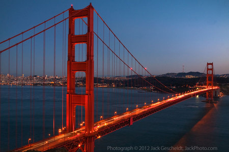Golden Gate Bridge @ dusk
