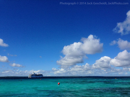 The Paul Gauguin from Ile de Lifou, New Caledonia