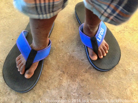 big sandals, Ile de Lifou, New Caledonia
